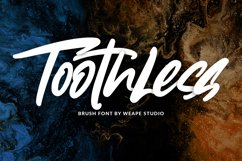Toothless - Brush Font Product Image 1