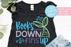 Books Down Fins Up Last Day School SVG DXF EPS PNG Cut File Product Image 1