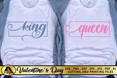 Valentines Day SVG Love Quotes SVG King Queen SVG Cut Files Product Image 3