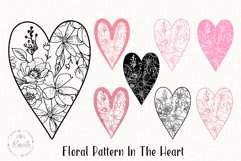 Valentines Love Heart with a Floral Pattern Product Image 1