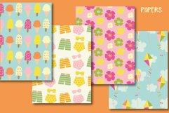 Summertime set, clipart and papers Product Image 3