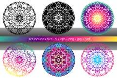 Set of bright vector mandalas Product Image 3