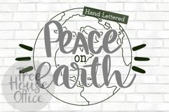 Peace On Earth Christmas Song Quote Holiday Winter Cut File Product Image 1