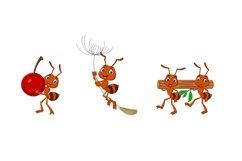 Set of Six Cartoon Brown Ant Animal Product Image 2