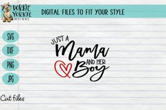 Just a Boy and his Mama - Mom boy, heart, mom, SVG cut file Product Image 2