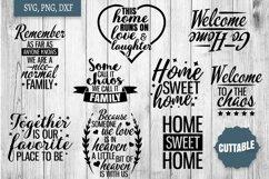 Home SVG bundle, Family quote cut file bundles, Home svgs Product Image 3
