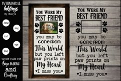 You Were My Best Friend Dog Memorial SVG Product Image 1