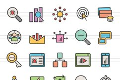 150 SEO & Development Filled Line Icons Product Image 6