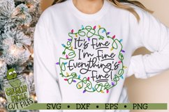 Everything's Fine Christmas Lights SVG Cut File Product Image 3