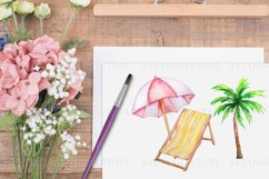 Tropical Clip Art - Watercolor Summer Clipart Product Image 2