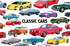 Classic Car Clipart Product Image 1