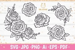 Rose SVG, rose PNG, Wedding flowers, Flowers SVG Product Image 1
