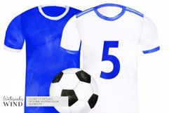 Watercolor football shirt png clipart, fathers day clip art Product Image 3