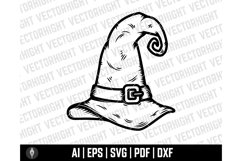 Witch Hat Clipart SVG, Wizard Hat Shape Ai, Eps, Pdf, Dxf. Product Image 2
