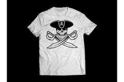 Pirate Skull in Hat, Pirate Sabers, Pirate Clipart, Pirate Product Image 2