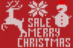 Christmas Knitted Font Ol Product Image 3