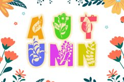 Fall Vibes - Floral Font Autumn Season Product Image 2