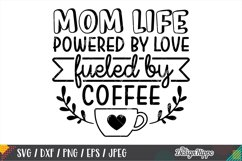 Coffee Mom Life SVG Bundle, 10 Designs SVG DXF PNG Cut Files Product Image 5
