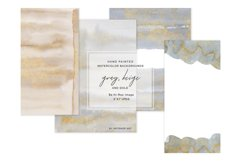 Watercolor Glittered Gray & Beige Background 5x7 Product Image 2