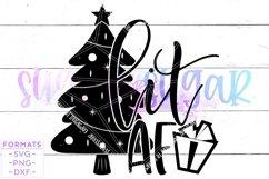 Lit AF Christmas Tree SVG Product Image 1