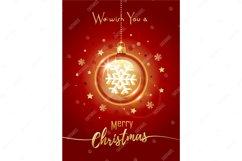 Merry Christmas greeting card. Christmas crystal ball. Product Image 1