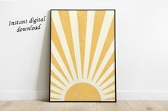 Sun Printable Art Wall Decor ,Sun Art Print Boho Product Image 1