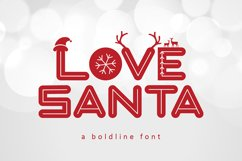 Love Santa - A Special Font For Christmas Product Image 1