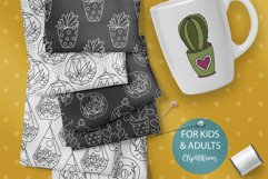 Cactus SVG and Seamless Pattern Product Image 6