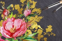 Peony and Gold leaf Product Image 3