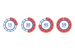 Stopwatch vector icons. Timer isolated on white background Product Image 1