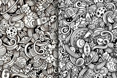 Space Graphics Doodle Patterns Product Image 3