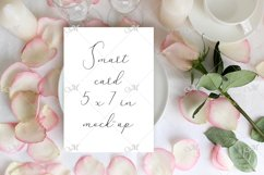 Table card Mockup with a Rose. PSD+JPG Product Image 2