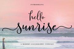 Hello Sunrise Script Product Image 1