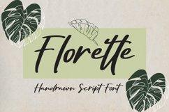 Florette - Handrawn Script Font Product Image 1