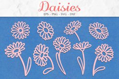 Daisy SVG, Floral Clipart, Flowers SVG, Mothers Day SVG Product Image 1