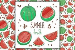 Watermelon Vector Clipart Product Image 4