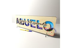 Abuelo sign vector files. Father's day . Glowforge ready. Product Image 2