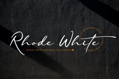 Rhode White Product Image 1