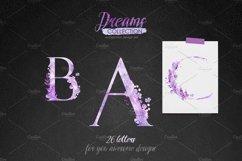 Watercolor alphabet - DREAMS Product Image 5