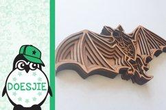 Halloween svg Bat 3d multi layer mandala 5 layers Product Image 3