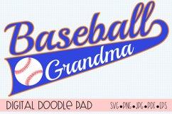 Baseball Grandma SVG | Silhouette and Cricut Cut File Product Image 1