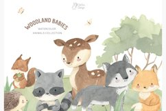 WOODLAND ANIMALS. Watercolor clipart Product Image 3