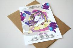 Unicorn Birthday Party Invitation Product Image 1