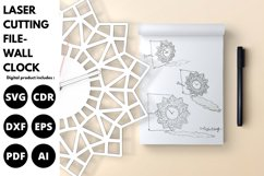 Wall Clock - SVG - Laser cutting File Product Image 2