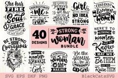 Strong woman SVG bundle 40 designs Product Image 2