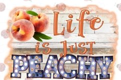 Life is Just Peachy Keen 300DPI PNG Printable Digital Design Product Image 5