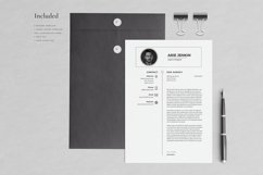 Arie Resume with Cover Letter Professional Template Product Image 3