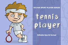 VECTOR tennis player Product Image 1