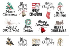 Christmas elements and lettering Product Image 2
