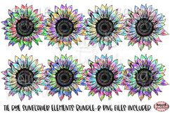 Tie Dye Sunflower Sublimation Elements Bundle Product Image 1